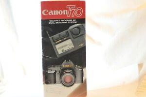 Canon FD T-70 T70 35mm FILM SLR Camera Dealers brochure booklet