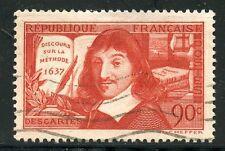 STAMP / TIMBRE FRANCE OBLITERE N° 341 DESCARTES