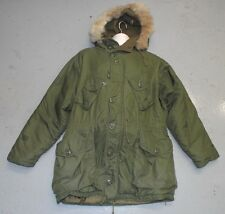 EXTREME COLD WEATHER OLIVE CANADIAN PARKA JACKET Peerless Garments 1969 Size 4
