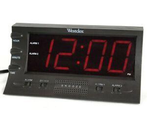 Westclox Odyssey Dual Digital Reloj Despertador 22700