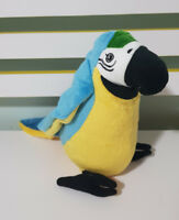 IKEA PARROT MACAW PARROT STUFFED ANIMAL 22CM! PLUSH TOY BLUE AND YELLOW!