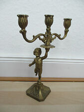 Kerzenständer Antik? / 3-armig / Messing? / Engel / vllt Barock / Kerzenleuchter