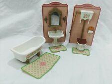 Playmobil Victorian Mansion 5300 5301 Bathroom parts vanity toilet bathtub rugs