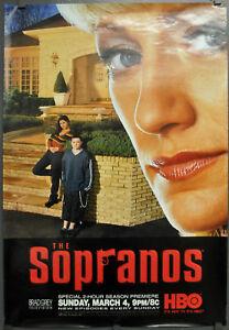 SOPRANOS 2007 AUTHENTIC 27X40 ROLLED HBO TV POSTER JAMES GANDOLFINI EDIE FALCO
