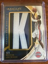 2015-16 Immaculate Reggie Jackson Letter Nameplate Nobility PATCH Card /7 Piston