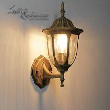 lámpara exterior en oro antiguo 8372 de jardín Pared Iluminación Patio Luz
