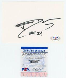 TIM DUNCAN PSA/DNA Autographed 4x6 Index Card - SAN ANTONIO SPURS NBA HOF  COA