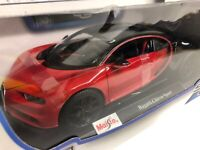 Bugatti Chiron. Red. Maisto . 1/18 Scale. Boxed .