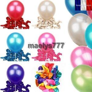Lot 50pcs ballons Latex nacré décoration mariage baptême fête couleur au choix