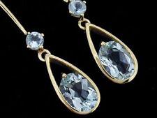 Hook Aquamarine Drop/Dangle Fine Earrings
