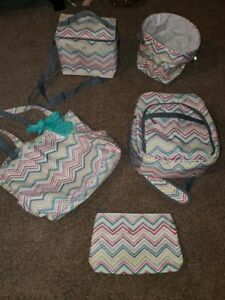 Large lot of Thirty One Zip Zag Party Punch