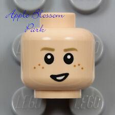NEW Lego Light FLESH CHILD MINIFIG HEAD Boy Girl Happy Smile Sad Anakin Freckles