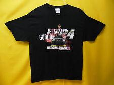 "NASCAR JEFF GORDON T-SHIRT ""NATIONAL GUARD "" #24 CHEVERLOT COLLECTIBLE TEE"