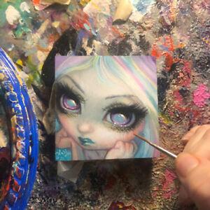 Tiny Treasure 205 Jasmine Becket-Griffith ORIGINAL PAINTING pastel fairy pop art
