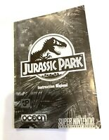 Jurassic Park SNES Instruction Manual Super Nintendo Booklet NO GAME/BOX