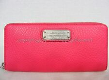 NWT MARC By Marc Jacobs M0007427 New Q Slim Zip Around Wallet in Singing Rose