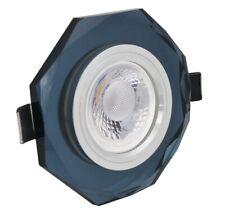 LED GU10 Einbaustrahler 230V 5W Einbauleuchte Schwarz Kristall eckig Deckenspot