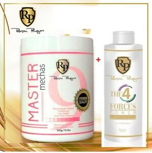 1 Powder Master Mechas Robson Peluquero 500gr + Tint The 4 Force Toner 1 Liter