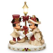 DISNEY Parks CHRISTMAS Victorian MICKEY & MINNIE Light-Up Figurine NEW