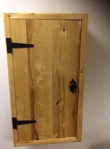Cottage style reclaimed Oak Rustic SHELF WALL Cupboard handmade Unit Cabinet