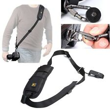 Quick Rapid Single Shoulder Sling Black Belt Strap for Digital SLR DSLR Camera
