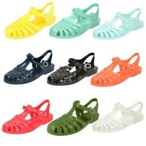 Ladies Spot On Buckled 'Jelly Sandals'