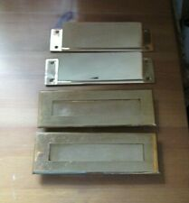 Vintage Mail Slots Door Hardware Metal/Brass 4 Pieces