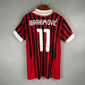 AC MILAN ITALY 2011-12 HOME FOOTBALL SHIRT JERSEY #11 ZLATAN IBRAHIMOVIC