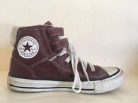 Converse Chuck Taylor All Star Leather Sheerling Hi Tops Unisex UK Size 3