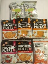 8 Bags Shrewd Food Protein Puffs/Snacks Assorted Low Carb Keto 2-3g carbs