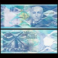 Barbados 2 Dollars, 2013, P-73, UNC