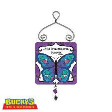 Joan Baker Blue Butterfly Gift Ornament Suncatcher Sign  God's Love  Bible Verse