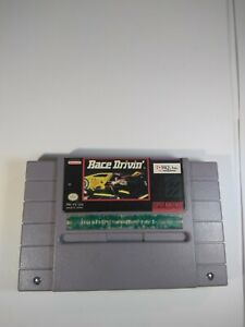 Super Nintendo Race Drivin Game Great Condition Tested