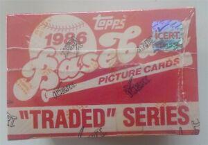 1986 Topps Traded Baseball Set iCert Certified Original Seal Intact