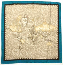 ALVIERO MARTINI I° CLASSE Foulard Seta Grande Heavy Silk Big Scarf With Tag