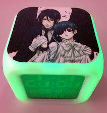 Japan Anime Black Butler SEBASTIAN&CIEL Seven Color Change Digital Alarm Clock C