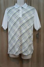 Greg Norman for Tasso Elba Mens Casual Shirt Sz S White Snap Dragon Short Sleeve