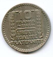 TOP RARE 10 FRANCS TURIN NICKEL 1946 B RAMEAUX LONGS N2