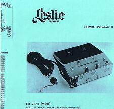 Service Info: 94 Leslie Speakers & 4 Combo Preamp Models + Church/Home Placement
