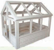 1:12 Scale Dolls House Miniature Flat Pack White Painted Greenhouse Accessory