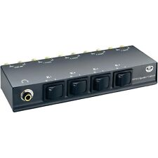 4 entradas Selector De Altavoces Interruptor 4 pares usar uno par todas 4 con