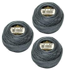 DMC Pearl Cotton: Size 8: 3 x 80m: Balls