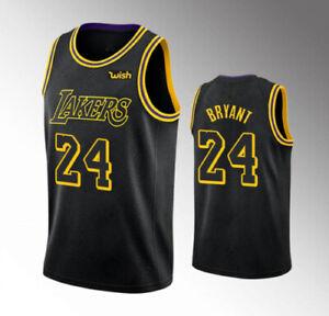 24 Lakers Kobe Bryant Black Mamba City Edition Swingman Jersey Black