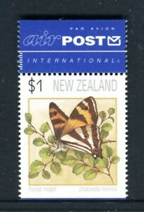 1995 New Zealand - $1 Butterfly Ex Booklet With Airmail Tab MUH Stamp