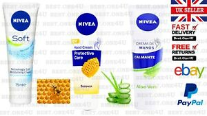 NIVEA HAND CREAM CARE ALOVE VERA/JOJOBA OIL/ BEESWAX**UK SELLER**