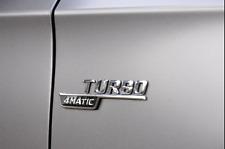 Chrome TURBO 4MATIC Side Decal Badge Mercedes-Benz GLC220 GLC250 GLC43 AMG