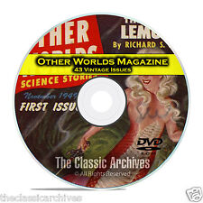 Other Worlds, 43 Vintage Pulp Magazines, Golden Age Science Fiction DVD CD C53