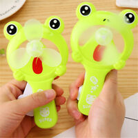 1PC Cute Frog Portable Mini Fan Hand Press Cooling Fan Kids Toys GiftS Tw