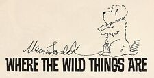 Maurice SENDAK - Where The Wild Things Are - SIGNED WITH AN ORIGINAL DRAWING !
