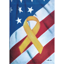 "REMEMBER OUR TROOPS 12.5"" X 18"" GARDEN FLAG 11-1838-133 RAIN OR SHINE SPRING"